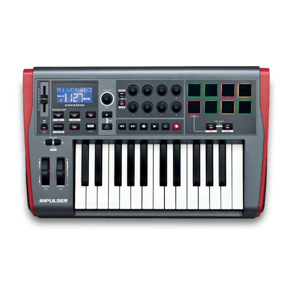 Midi клавиатура NOVATION Impulse 25. Фотография 1